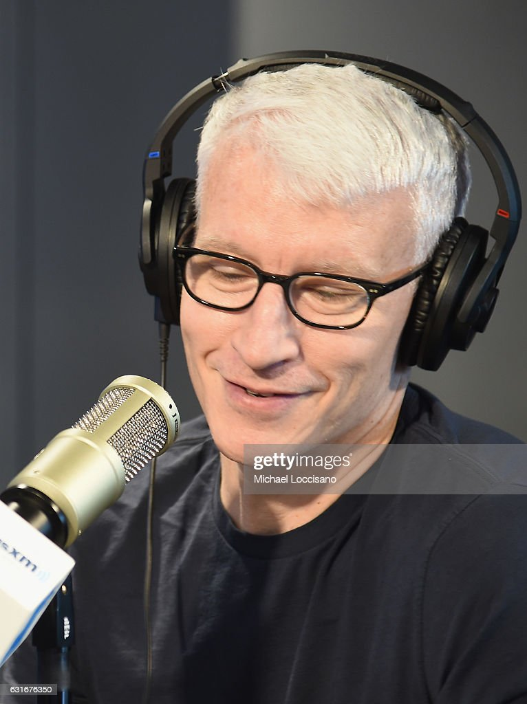 Journalist Anderson Cooper visits SiriusXM Studios on January 13, 2017 in New York City.