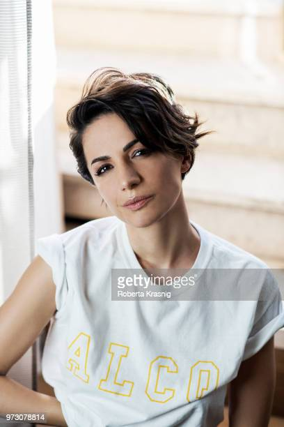 Journalist Andrea Delogu is photographed for Self Assignment on January 2018 in Rome Italy