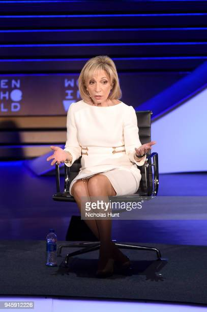 Journalist Andrea Mitchell speaks on stage at the 2018 Women In The World Summit at Lincoln Center on April 13 2018 in New York City