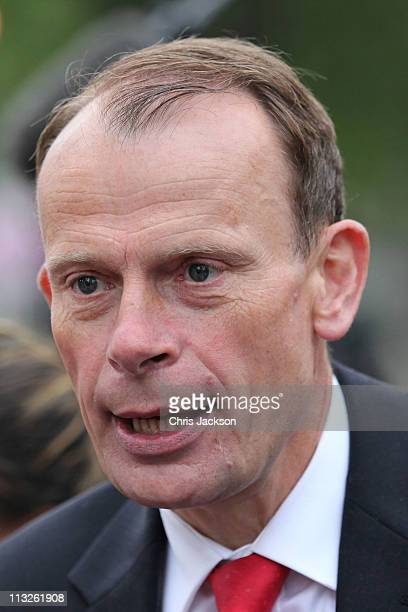 BBC journalist Andrew Marr ahead of the Royal Wedding of Prince William to Catherine Middleton at Westminster Abbey on April 29 2011 in London...