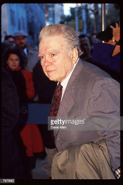 Journalist Andy Rooney attends a memorial service for broadcasting executive William Paley November 12 1990 in New York City Paley founded the...