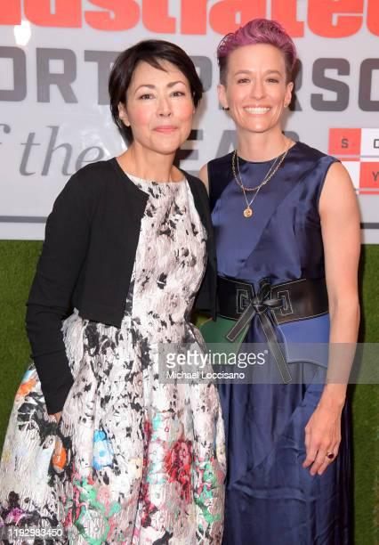 Journalist Ann Curry and Professional Soccer Player Megan Rapinoe attend the 2019 Sports Illustrated Sportsperson Of The Year at The Ziegfeld...