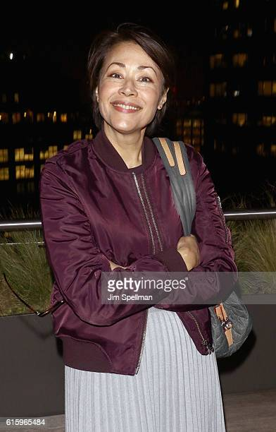 Journalist Ann Curry attends the screening after party of 'The Eagle Huntress' hosted by Sony Pictures Classics and The Cinema Society at Jimmy At...