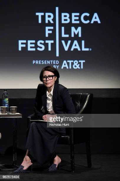 Journalist Ann Curry moderates panel at the screening of The Fourth Estate 2018 Tribeca Film Festival at BMCC Tribeca PAC on April 28 2018 in New...