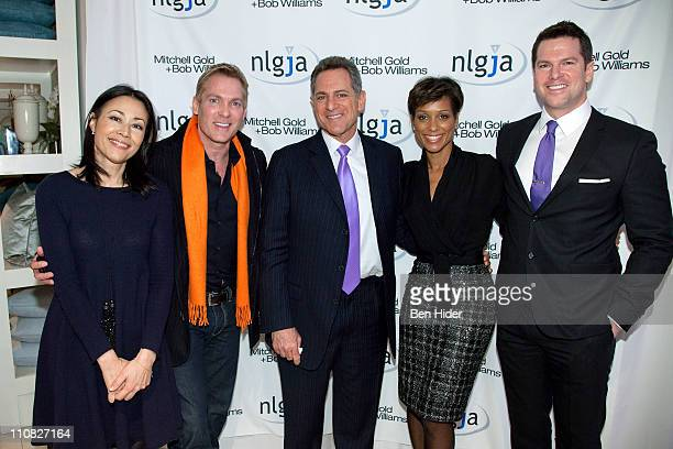 Journalist Ann Curry Sam Champion ABC news anchor Bill Ritter Sade Baderinwa and Thomas Roberts attend the National Lesbian gay Journalists...