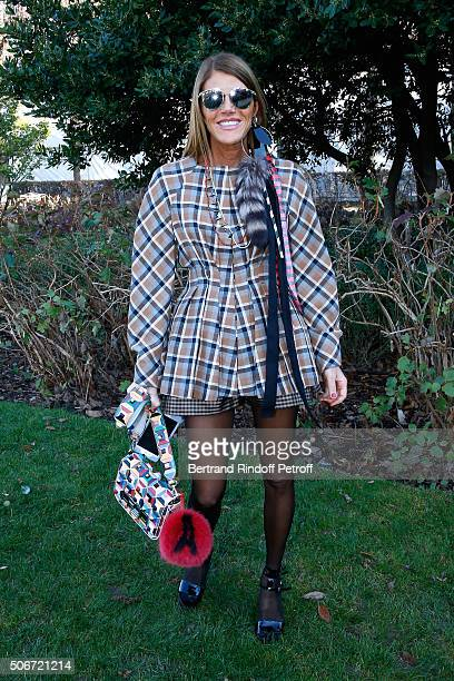 Journalist Anna Dello Russo attends the Christian Dior Spring Summer 2016 show as part of Paris Fashion Week Held at Musee Rodin on January 25 2016...