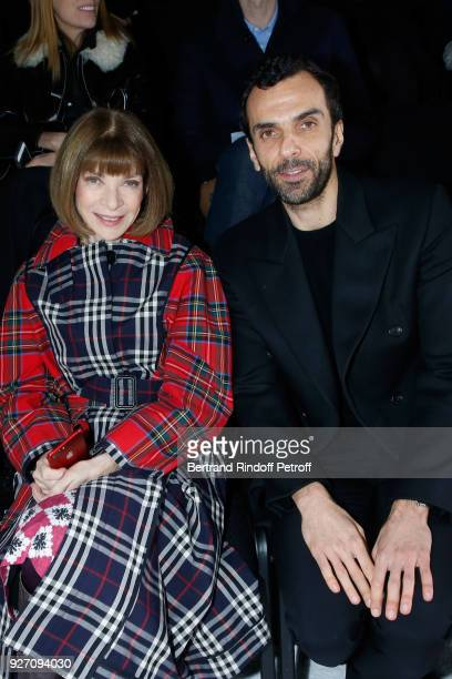 Journalist Anna Wintour and CEO Balenciaga Cedric Charbit attend the Balenciaga show as part of the Paris Fashion Week Womenswear Fall/Winter...