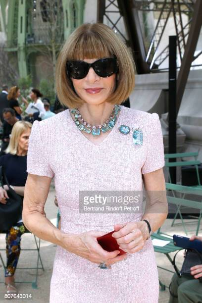 Journalist Anna Wintour attends the Chanel Haute Couture Fall/Winter 20172018 show as part of Haute Couture Paris Fashion Week on July 4 2017 in...