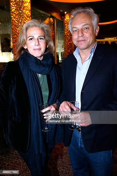 Journalist Anne Fulda and guest attend the Cocktail for the Cinema Award 2015 of Foundation Diane Lucien Barriere given to the movie 'Les Chateaux de...