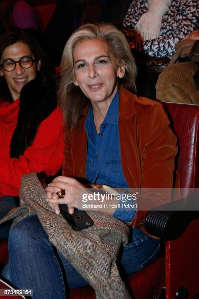 Journalist Anne Fulda attends 'Depardieu Chante Barbara' at 'Le Cirque D'Hiver' on November 10 2017 in Paris France