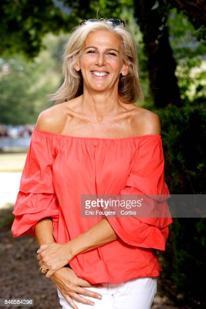 Journalist Anne Fulda poses during a portrait session in Paris France on