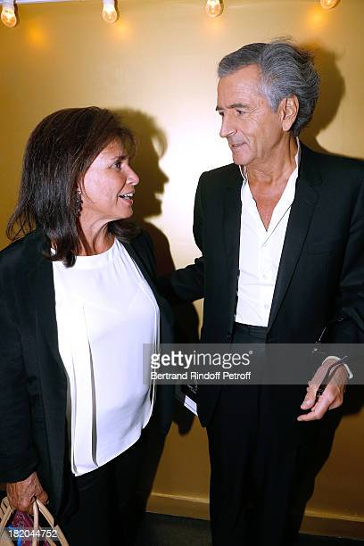 Journalist Anne Sinclair and writer BernardHenri Levy attend 'Opium' movie Premiere held at Cinema Saint Germain in Paris on September 27 2013 in...