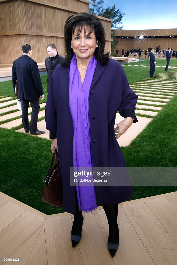 Journalist Anne Sinclair attends the Chanel Spring Summer 2016 show as part of Paris Fashion Week on January 26, 2016 in Paris, France.