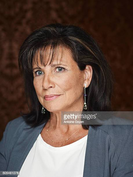 Journalist Anne Sinclair is photographed for Self Assignment on August 19 2014 in Paris France
