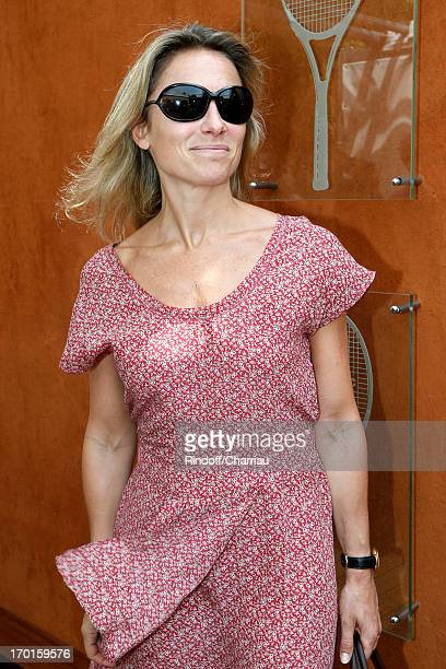 Journalist Anne Sophie Lapix sighting at Roland Garros Tennis French Open 2013 Day 14 on June 8 2013 in Paris France