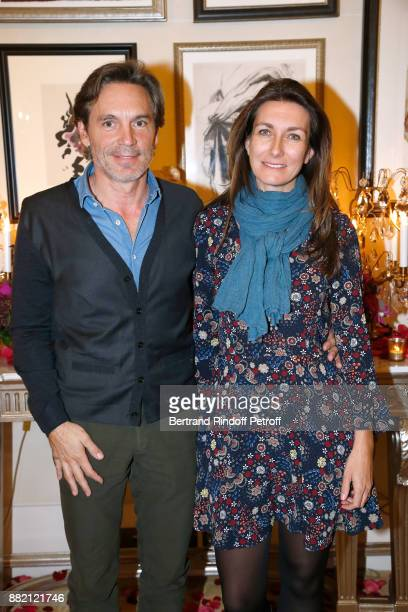 Journalist AnneClaire Coudray and her companion Nicolas Vix attend the Charity Gala to Benefit the Princess Diya Kumari of Jaipur Foundation Held at...