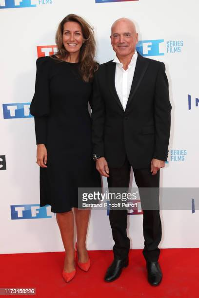Journalist AnneClaire Coudray and meteorologist Louis Bodin attend the Groupe TF1 Photocall at Palais de Tokyo on September 09 2019 in Paris France
