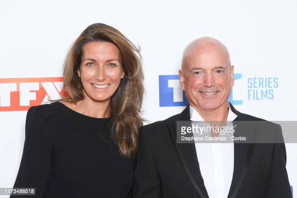 Journalist AnneClaire Coudray and meteorologist Louis Bodin attends the Groupe TF1 Photocall At Palais De Tokyo on September 09 2019 in Paris France