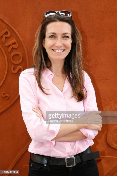 Journalist AnneClaire Coudray attends the 2017 French Tennis Open Day Twelve at Roland Garros on June 8 2017 in Paris France