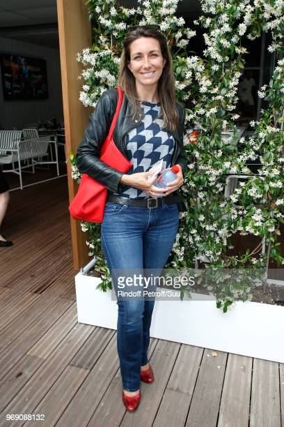 Journalist Anne-Claire Coudray attends the 2018 French Open - Day Twelve at Roland Garros on June 7, 2018 in Paris, France.