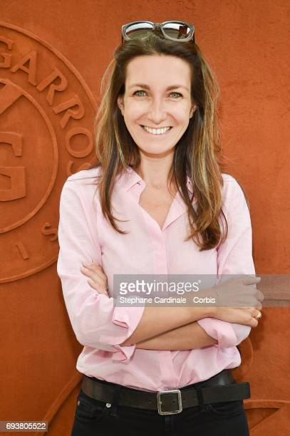Journalist AnneClaire Coudray attends the French Tennis Open 2017 Day Twelve at Roland Garros on June 8 2017 in Paris France
