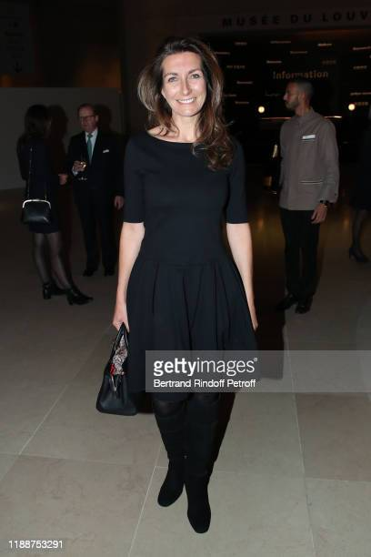 Journalist AnneClaire Coudray attends the Grand Dinner of the Louvre on November 19 2019 in Paris France