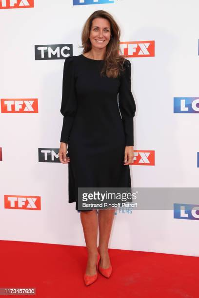 Journalist AnneClaire Coudray attends the Groupe TF1 Photocall at Palais de Tokyo on September 09 2019 in Paris France