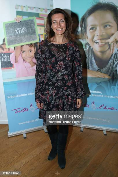 Journalist AnneClaire Coudray attends the Levons le Doigt pour l'Education des Filles Closing Conference at We Are on January 30 2020 in Paris France