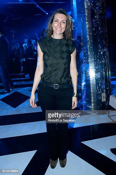 Journalist AnneClaire Coudray attends the Louis Vuitton show as part of the Paris Fashion Week Womenswear Fall/Winter 2016/2017 Held at Louis Vuitton...
