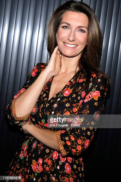 Journalist AnneClaire Coudray during a portrait session in Paris France on
