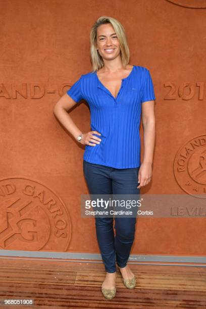 Journalist AnneLaure Bonnet attends the 2018 French Open Day Ten at Roland Garros on June 5 2018 in Paris France