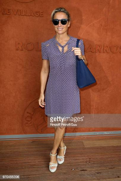 Journalist AnneSophie Lapix attends the 2018 French Open Day Fourteen at Roland Garros on June 9 2018 in Paris France