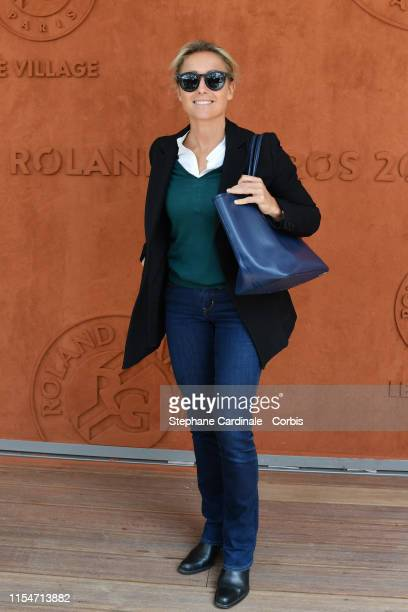 Journalist AnneSophie Lapix attends the 2019 French Tennis Open Day Fourteen at Roland Garros on June 08 2019 in Paris France