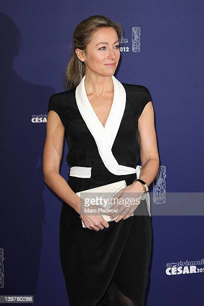 Journalist AnneSophie Lapix attends the 37th Cesar Film Awards at Theatre du Chatelet on February 24 2012 in Paris France
