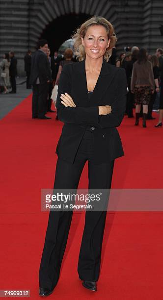 Journalist AnneSophie Lapix attends the after party for the Film Premiere 'Ratatouille' June 30 2007 in Paris France