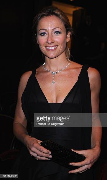Journalist AnneSophie Lapix attends the show at the Cesar Film Awards held at the Chatelet Theater on February 27 2009 in Paris