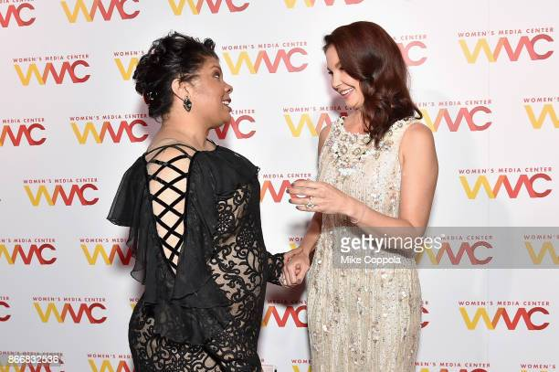 Journalist April Ryan and actress Ashley Judd attend the Women's Media Center 2017 Women's Media Awards at Capitale on October 26 2017 in New York...