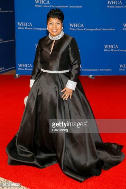 Journalist April Ryan attends the 2018 White House Correspondents' Dinner at Washington Hilton on April 28 2018 in Washington DC