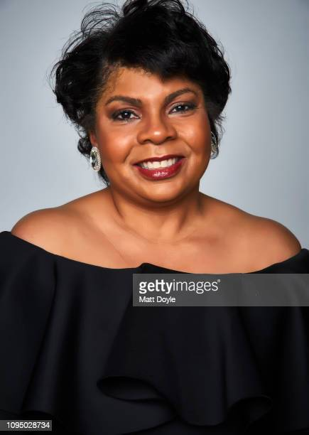 Journalist April Ryan poses for a portrait at The National Board of Review Annual Awards Gala on January 8 2019 at Cipriani 42nd Street in New York...