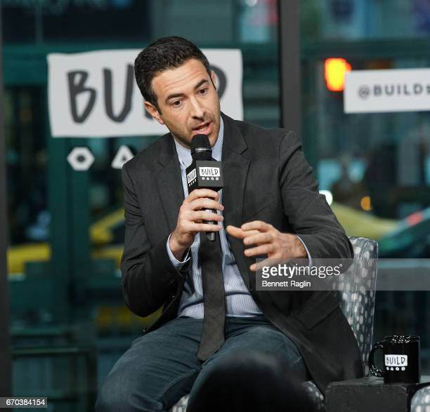 Journalist Ari Melber attends the Build Series to discuss Notes From The Newsroom 100 Days Of Trump at Build Studio on April 19 2017 in New York City