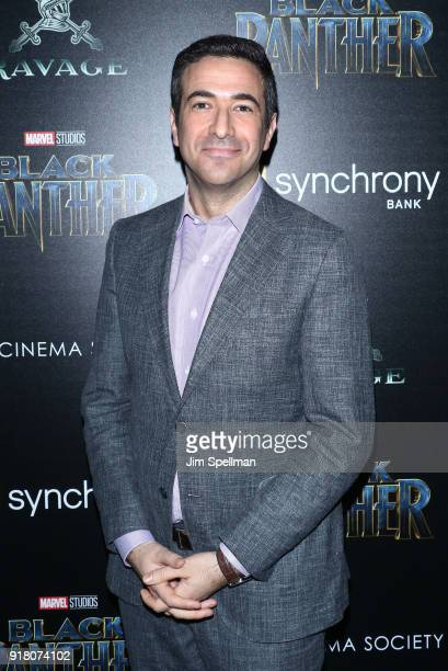 Journalist Ari Melber attends the screening of Marvel Studios' 'Black Panther' hosted by The Cinema Society with Ravage Wines and Synchrony at Museum...
