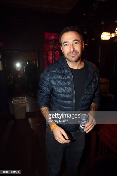 Journalist Ari Melber backstage at Dave East In Concert at Irving Plaza on January 12 2019 in New York City