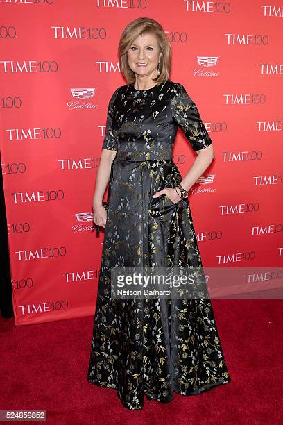 Journalist Arianna Huffington attends the 2016 Time 100 Gala at Frederick P Rose Hall Jazz at Lincoln Center on April 26 2016 in New York City