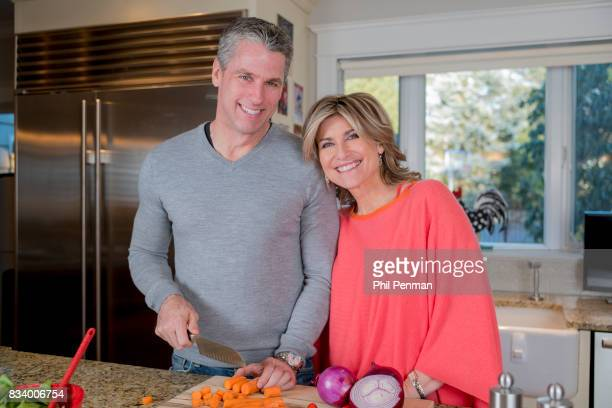 Journalist Ashleigh Banfield is photographed with fiancé Chris Haynor for Closer Weekly Magazine on March 4 2017 at home in Connecticut