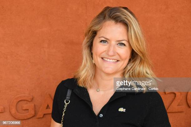 Journalist Astrid Bard attends the 2018 French Open Day Nine at Roland Garros on June 4 2018 in Paris France