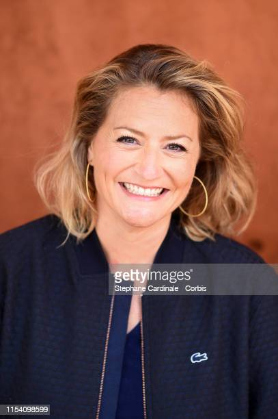 Journalist Astrid Bard attends the 2019 French Tennis Open Day Twelve at Roland Garros on June 06 2019 in Paris France