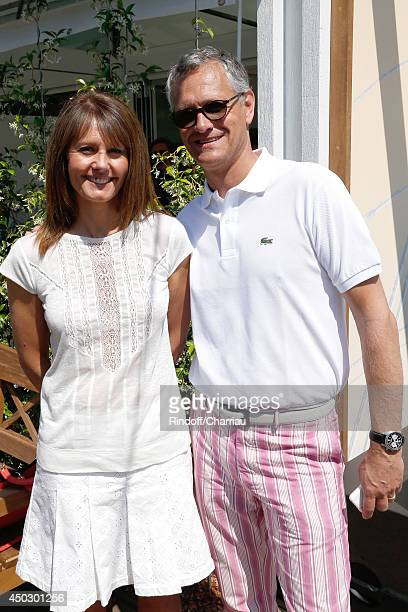 "Journalist at Telematin Isabelle Chalencon and CEO ""Unilever France"" Bruno Witvoet attend the Men's Final of Roland Garros French Tennis Open 2014 -..."