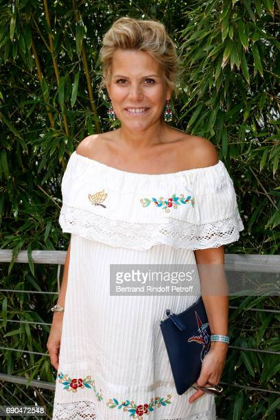 Journalist at Telematin Laura Tenoudji attends the 2017 French Tennis Open Day Four at Roland Garros on May 31 2017 in Paris France