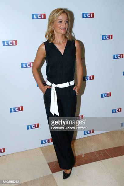 Journalist Audrey CrespoMara attends the LCI Press Conference to Announce Their TV Schedule for 2017/2018 on August 30 2017 in Paris France