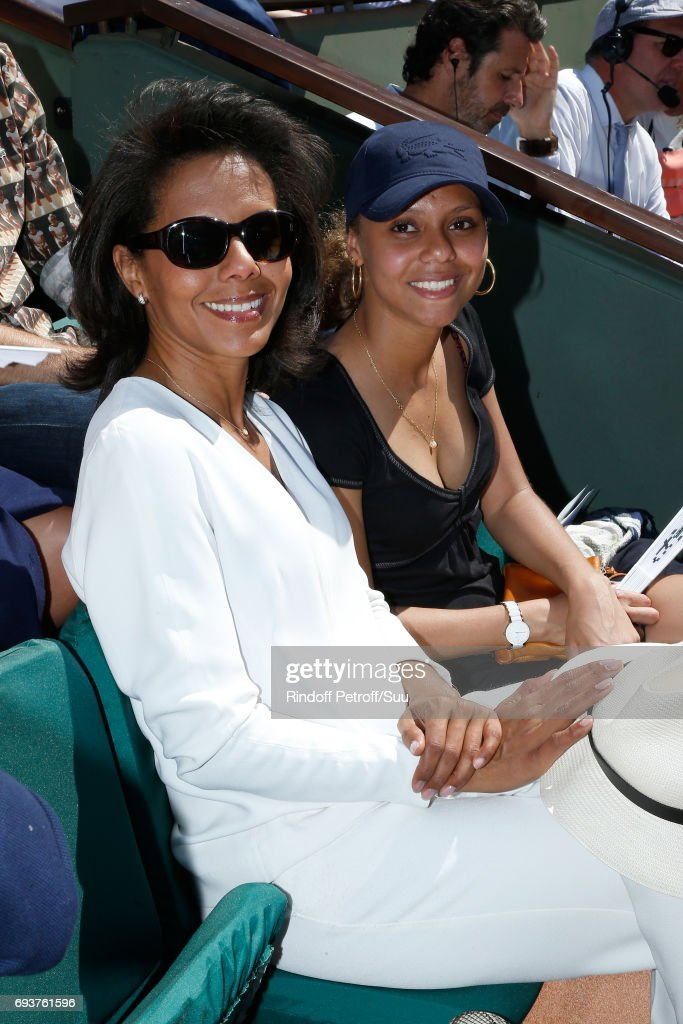 Journalist Audrey Pulvar and her niece Mareva attend the 2017 French Tennis Open - Day Twelve at Roland Garros on June 8, 2017 in Paris, France.